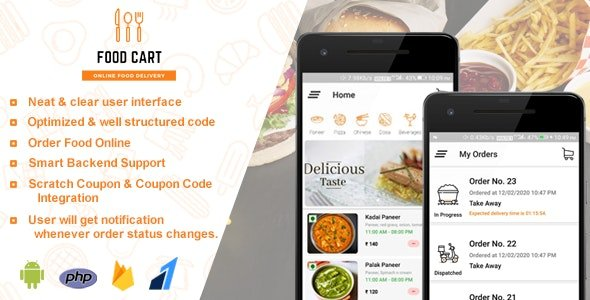 Food Cart - Online Food Delivery App Free