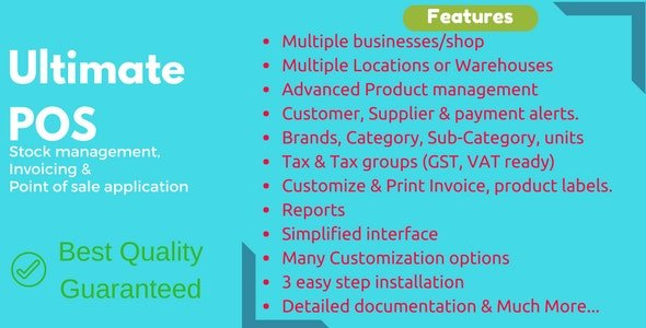Ultimate POS v3.5 - Best Advanced Stock Management, Point of Sale & Invoicing application Nulled