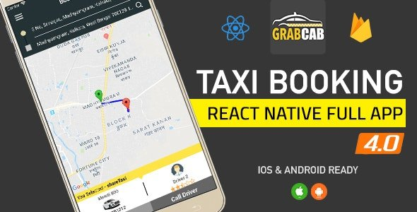 GrabCab React Native Full Taxi App Free