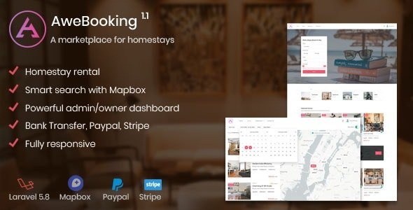 AweBooking - A marketplace for homestays Nulled