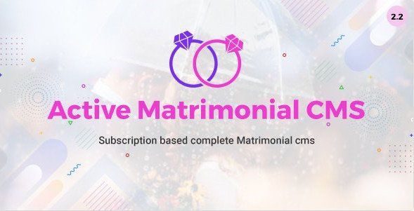 Active Matrimonial CMS Nulled