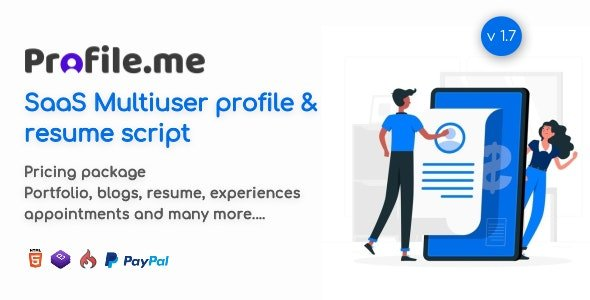 Profile.me - Saas Multiuser Profile & Resume Script v1.8 Nulled
