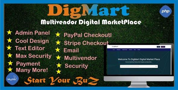 DigMart - Multivendor Digital MarketPlace PHP v3.7.0 Nulled