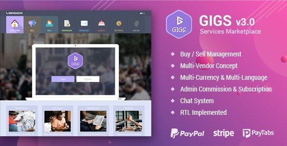 Gigs - Services Marketplace - Fiverr & Freelancer Clone - Multi Vendor Nulled