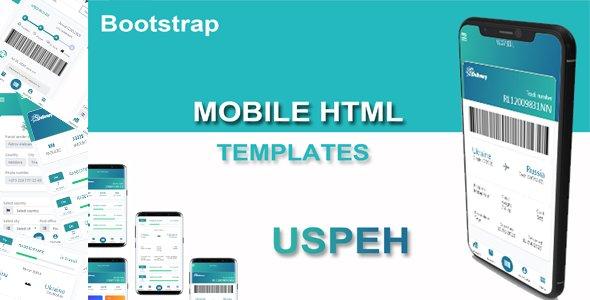 Uspeh - Mobile HTML templates Cargo transportation