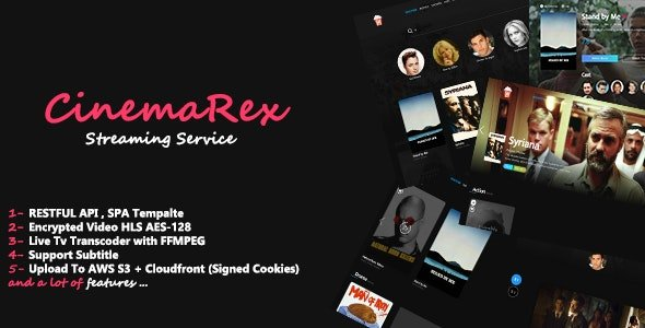 CinemaRex - Streaming Service Nulled