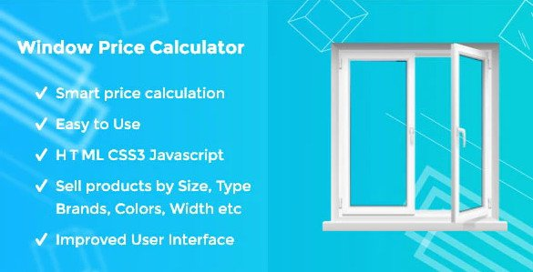Window Price Calculator HTML JS