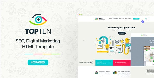 TopTen | Digital SEO Agency HTML5 Template