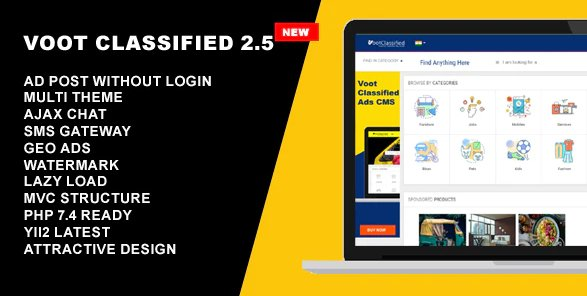 Classified Ads CMS - Voot Classified v2.6 Nulled