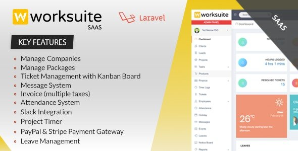 Worksuite Saas - Project Management System Nulled
