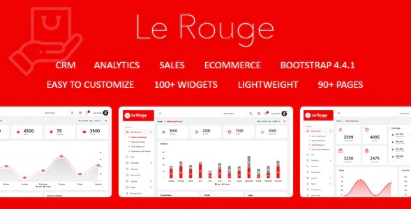 Le Rouge - Responsive Admin Dashboard Template