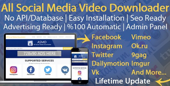 All Social Media Video Downloader Nulled