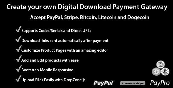 PayPro - Your Own Digital Download Payment Gateway