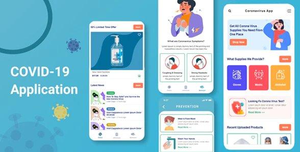 Coronavirus Mobile Template HTML