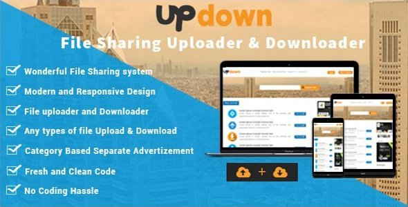 UpDown - File Sharing Uploader / Youtube / Downloader & Blogging v1.3 Nulled
