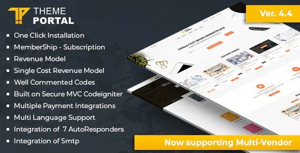 Theme Portal Marketplace - Sell Digital Products ,Themes, Plugins ,Scripts - Multi Vendor v4.5 Nulled