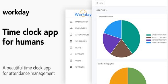 Workday - A Time Clock Application For Employees v1.1 Nulled