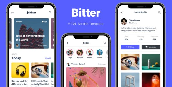 Bitter - HTML Mobile Template