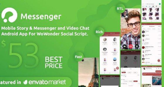 WoWonder Android Messenger - Mobile Application for WoWonder Social Script v2.8