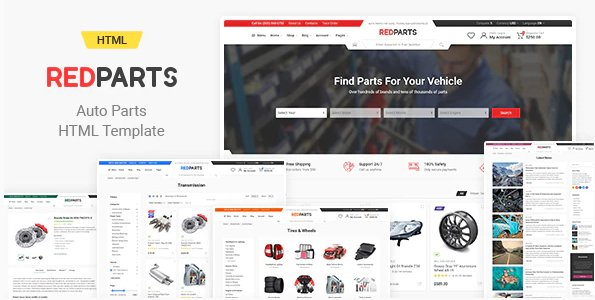 RedParts - Auto Parts HTML Template