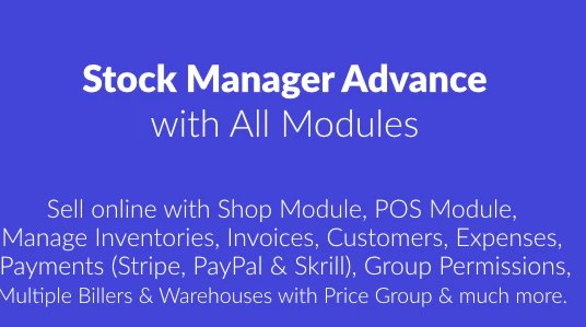 Stock Manager Advance with All Modules v3.4.32 Nulled