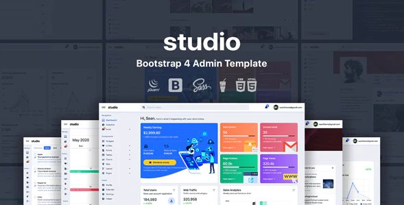 Studio - Bootstrap 4 Admin Template Nulled