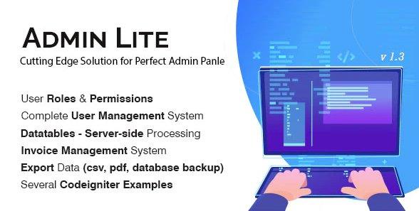 Admin Lite - PHP Admin Panel + User Management v3.0 Nulled