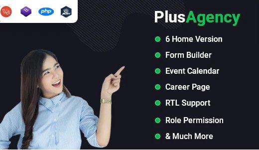 PlusAgency - Multipurpose Website CMS & Business Agency Management System v2.7 Nulled