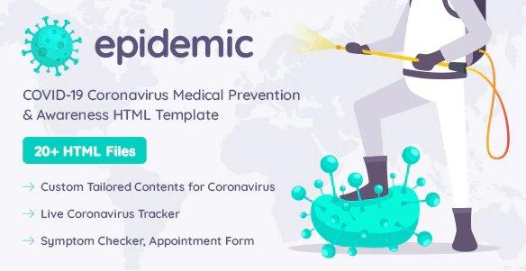 Epidemic COVID-19 HTML templates