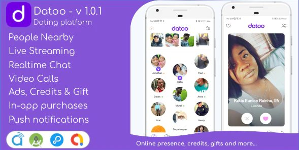 Datoo - Dating platform with Live Steaming and Video calls + Admin Panel v1.0.7