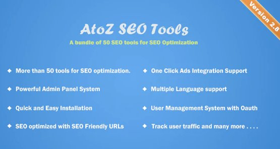 AtoZ SEO Tools - Search Engine Optimization Tools v2.9