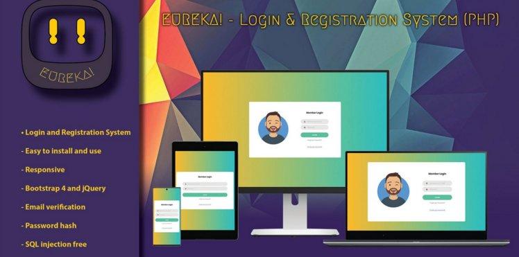 Eureka - Login And Registration System v0.9 Nulled