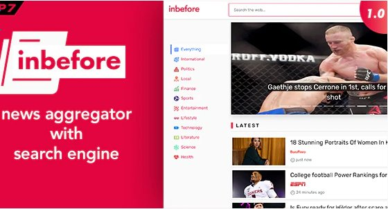 InBefore - News Aggregator with Search Engine v1.0.4