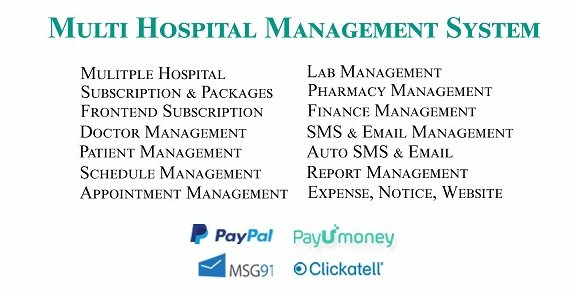 Multi Hospital - Hospital Management System v4.1