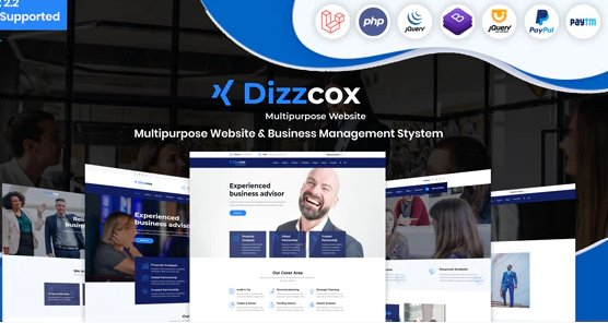 Dizzcox - Multipurpose Website & Business Management System CMS v2.2