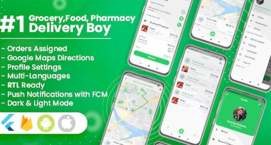 Delivery Boy for Groceries, Foods, Pharmacies, Stores Flutter App v1.2.0
