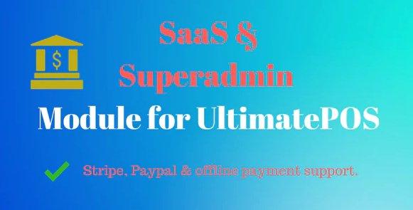 SaaS & Superadmin Module for UltimatePOS - Advance v2.2