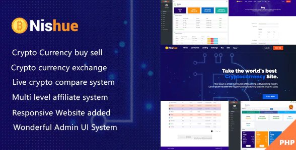 Nishue - CryptoCurrency Buy Sell Exchange and Lending with MLM System | Live Crypto Compare v3.9