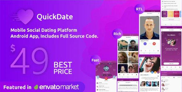 QuickDate Android - Mobile Social Dating Platform Application v1.6.1