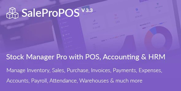 SalePro - Inventory Management System with POS, HRM, Accounting v3.4.1 Nulled