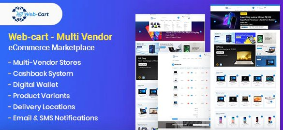 Web-cart - Multi Vendor eCommerce Marketplace v2.14