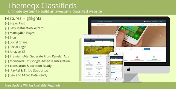 Themeqx Advanced PhP Laravel Classified ads cms v5.0