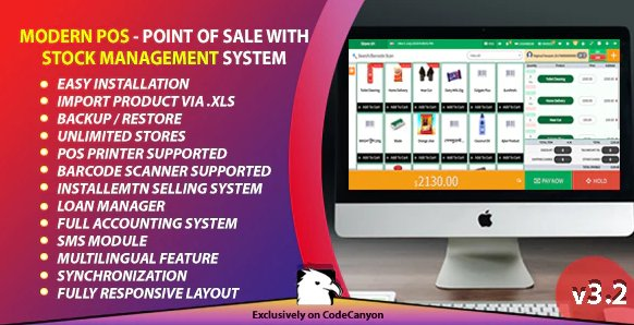 Modern POS - Point of Sale with Stock Management System v3.2