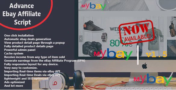 Mybay - Fully Automated Advanced eBay Affiliate Script v1.5