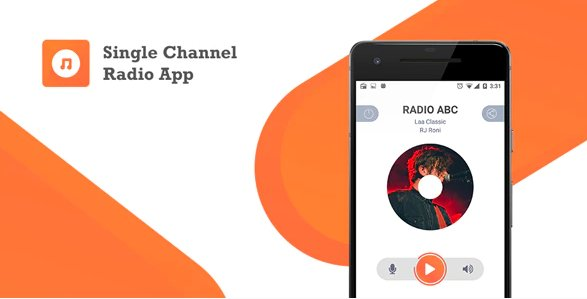 Single Channel Streaming Radio Application with Dynamic Backend v1.0