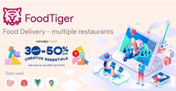 FoodTiger - Food delivery - Multiple Restaurants v2.1.1