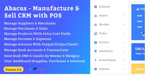 Abacus - Manufacture & Sale CRM with POS v3.0 Nulled