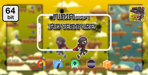 Ninja Jump Adventure 64 bit - Android IOS With Admob v1.0