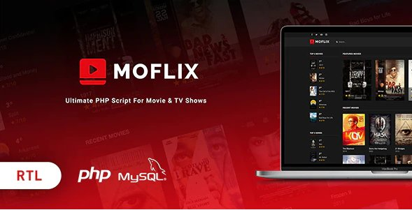 MoFlix - Ultimate PHP Script For Movie & TV Shows v1.0.5 Nulled