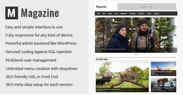 Magazine - Online News and Magazine CMS v1.0